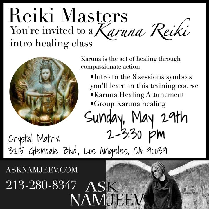 Karuna Reiki healing intro class